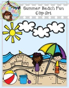 Summer Beach Fun Clip Art (Polka Dots and Pals)