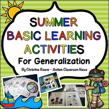 Summer Beginning Learner Skills Generalization Activities: