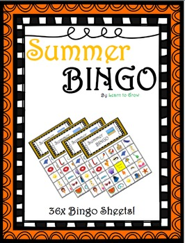 Summer Bingo! (36 Bingo Sheets!)