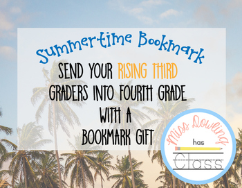 Summer Bookmark for Rising 2nd Graders