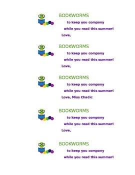 Summer Bookworm Labels