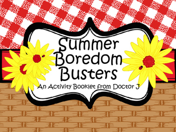 Summer Boredom Busters Activity Booklet for End-of-the-Yea