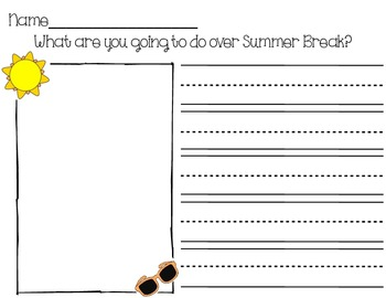 Summer Break Writing Prompt