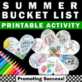 Summer Bucket List Interactive Notebook End of the Year Ac