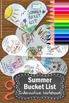 Summer Bucket List Interactive Notebook End of the Year Wr