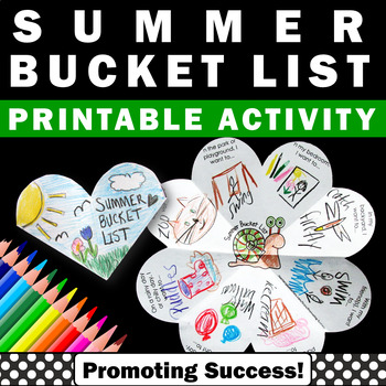 summer bucket list activity for kids craftivity