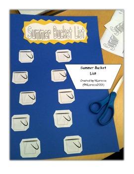 Summer Bucket List Craftivity