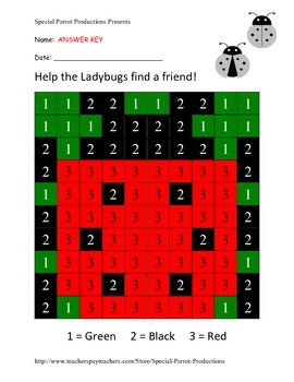 Summer Bug Life FREE - Ladybug - Color By Numbers!