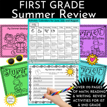 Summer School Summer Calendar Activities for First Grade