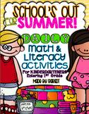Summer Calendar Homework Challenge {For Kindergarteners En