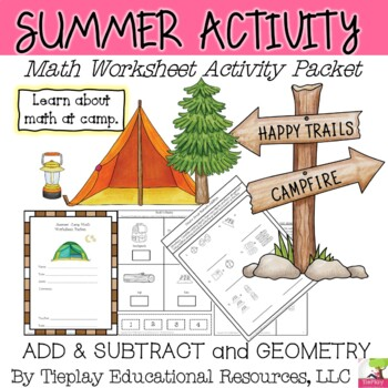 Summer Camp Math: Shapes & Basic Facts Worksheets