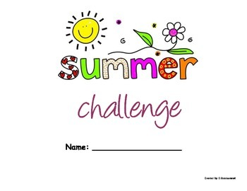 """""""Summer Challenge"""" Packet for Primary and Elementary Grades"""