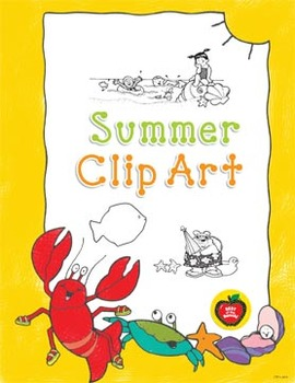 Summer Clip Art: 31 Black & White Images for Creative Use