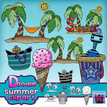 Summer Doodle Clipart