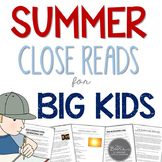 Summer Close Reads for BIG KIDS