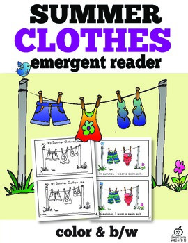 Summer Clothes Emergent Reader