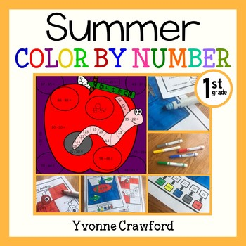 Summer Review Color by Number (1st Grade)  Color by Additi