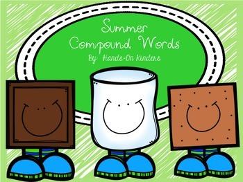 Summer Compound Words Literacy Center