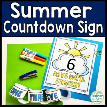 Summer Countdown Sign with Paper Chain