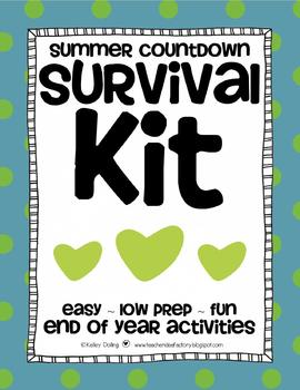 End of the Year Activities - Summer Countdown Survival Kit