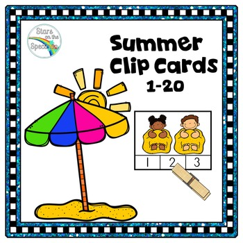 Summer Counting 1-20 (Clip Cards)