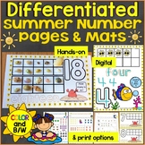 Summer Counting, Numbers Practice Pages 1-20: Differentiat