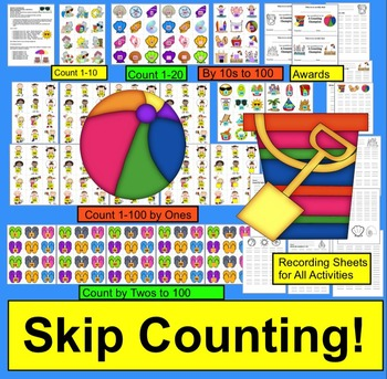End of the Year Math Activities:  Summer Math Skip Countin