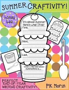 Summer Craftivity - Ice Cream Writing