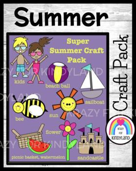 Summer Crafts Value Pack: Kids,Ball,Bee,Flower,Boat,Castle