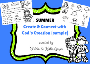 Summer Create & Connect with God's Creation {sample}