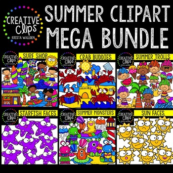 Summer Dash Bundle ($20.00 Value) {Creative Clips Clipart}