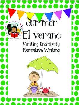 Summer - El verano Narrative Writing Craftivity - Spanish