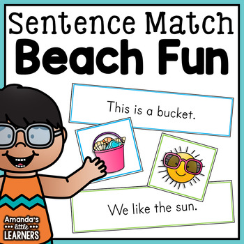 Summer Emergent Reader Sentence Matching Strips