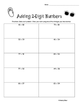 Summer / End of Year Adding and Subtracting 2-Digit Number