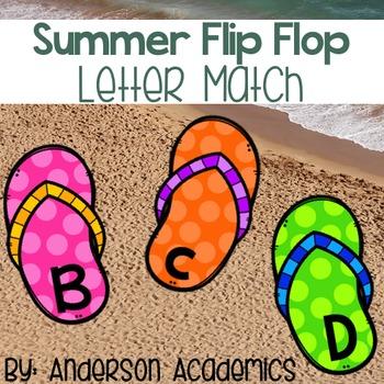 Summer Flip Flop Alphabet Match Cards