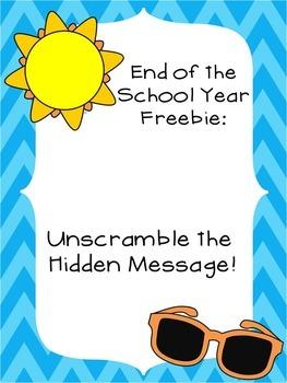 Summer Freebie: Unscramble the Hidden Message