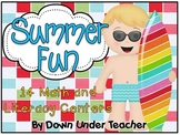 Summer Fun - 14 Literacy and Math Centers