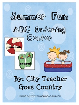 Summer Fun - ABC Order- literacy center - Print and Go!