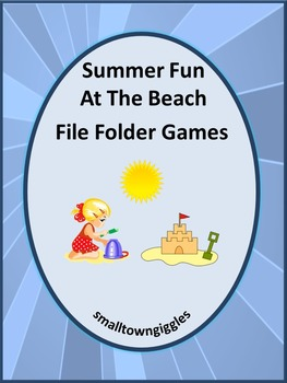 Beach Math and Literacy File Folder Games for Centers or S