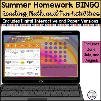 Summer Fun BINGO: A Stress-Free Summer Assignment
