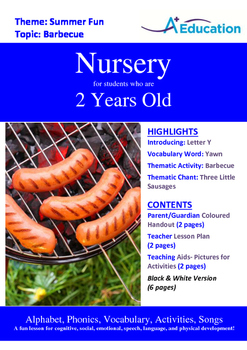 Summer Fun - Barbecue : Letter Y : Yawn - Nursery (2 years old)