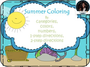 Summer Fun: Categorization and Following Directions Colori