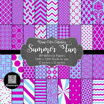 Summer Fun Digital Paper Collection 12x12 600dpi