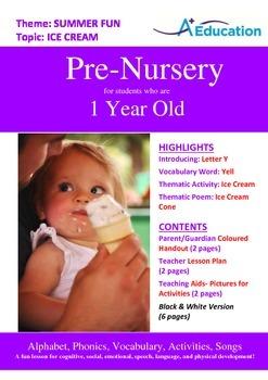 Summer Fun - Ice Cream : Letter Y : Yell - Pre-Nursery (1