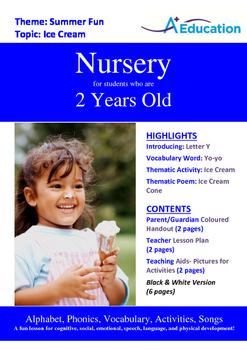 Summer Fun - Ice Cream : Letter Y : Yo-yo - Nursery (2 years old)