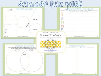 Summer Fun Pack ~ 4 Activities to do at Home