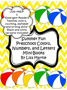 Summer Fun Preschool Colors, Numbers, and Letters Emergent