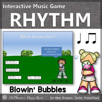 Summer Fun! Quarter Notes & Eighth Notes (Interactive Rhyt