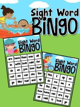 Summer Fun Sight Word Bingo