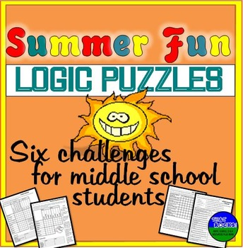 Summer Fun- Six Logic Puzzles and Brain Teasers for Middle